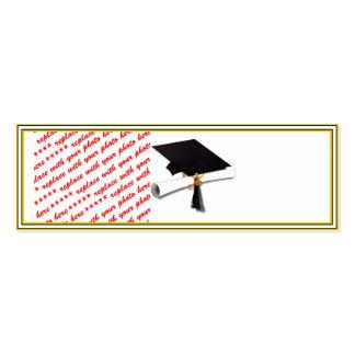 Graduation School Colors Black & Gold Frame Pack Of Skinny Business Cards