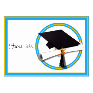 Graduation School Colors Blue And Gold Business Card