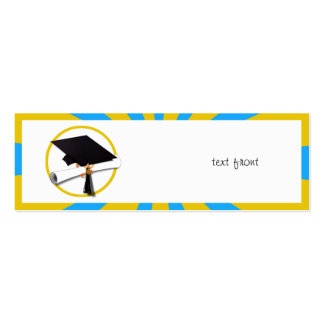 Graduation School Colors Blue And Gold (ZOOM!) Business Cards