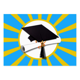 Graduation School Colors Blue And Gold (ZOOM!) Pack Of Chubby Business Cards