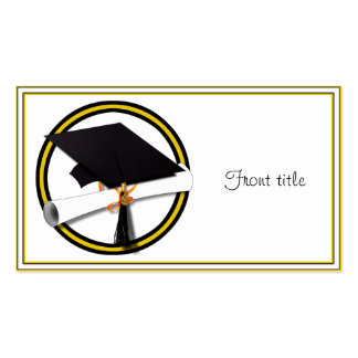Graduation School Colors Gold And Black Business Cards