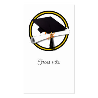 Graduation School Colors Gold And Black Business Card