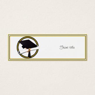 Graduation School Colors Gold And Black Mini Business Card