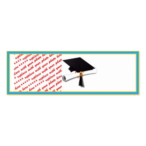 Graduation School Colors Lt. Blue& Gold Frame Business Cards