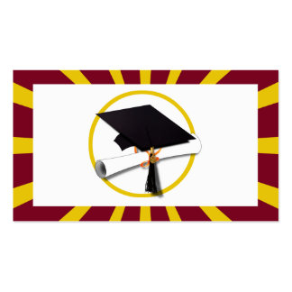 Graduation School Colors Red And Gold (ZOOM!) Pack Of Standard Business Cards