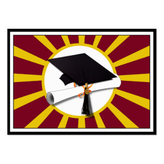 Graduation School Colors Red And Gold (ZOOM!) Pack Of Chubby Business Cards
