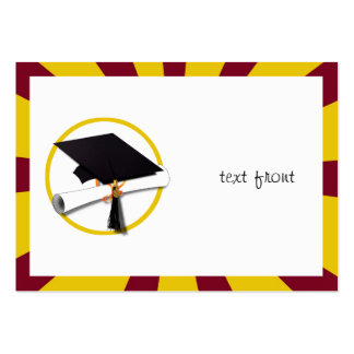 Graduation School Colors Red And Gold ZOOM Business Cards