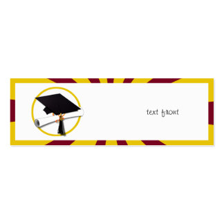 Graduation School Colors Red And Gold (ZOOM!) Business Card