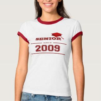 Graduation Senior Class of 2009 Red Ringer T-shirt