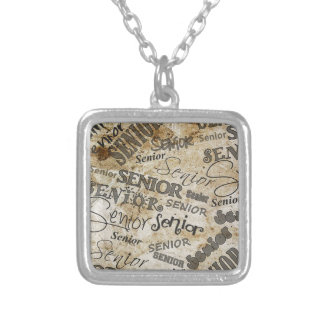 graduation silver plated necklace