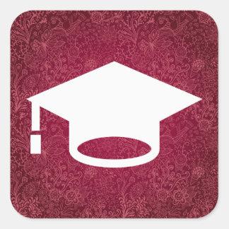 Graduation Speeches Minimal Square Sticker