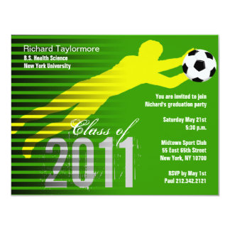 Graduation Sport Party Invitation Soccer
