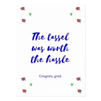 Graduation - Tassle was worth the hassle postcard