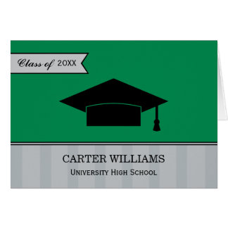Graduation Thank You Note Cards | Green and Gray