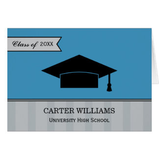 Graduation Thank You Note Cards | Steel Blue