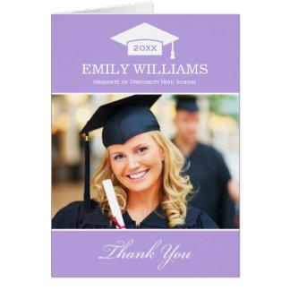 Graduation Thank You Photo Cards   Light Purple