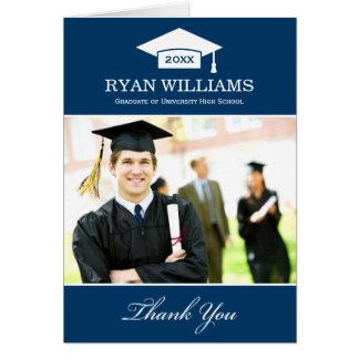 Graduation Thank You Photo Cards | Navy Blue