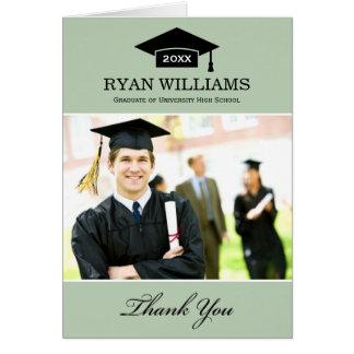 Graduation Thank You Photo Cards | Sage Green