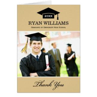 Graduation Thank You Photo Cards | Tan Brown