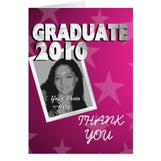 Graduation Thanks/ Photo Pink Card