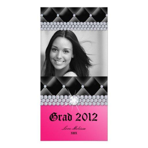 Graduation Tufted Satin Jewelry Sweet 16 Custom Photo Card