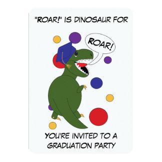 Graduation Tyrannosaurus Rex Custom Personalize Card