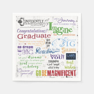 Graduation Word Art Paper Serviettes