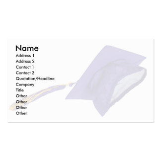 GraduationMortar, Name, Address 1, Address 2, C... Pack Of Standard Business Cards