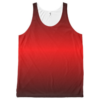 Graedient Red™ Unisex All-Over Print Tank Top