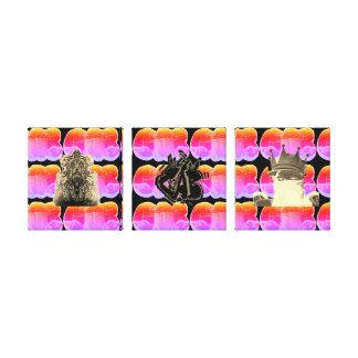 Graff Ninja 3 panel canvas prints