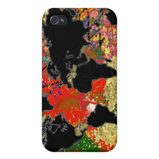 Graffited World Map iPhone 4/4S Cover