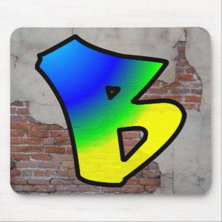GRAFFITI #1 B MOUSE PAD