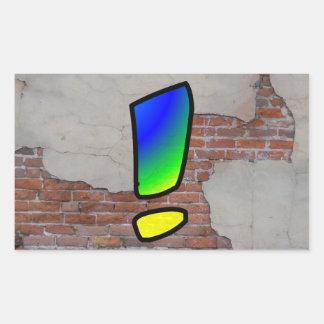 GRAFFITI #1 EXCLAMATION RECTANGULAR STICKER