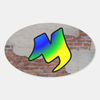 GRAFFITI #1 M OVAL STICKERS
