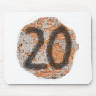 Graffiti 20th Birthday Gifts Mouse Pads