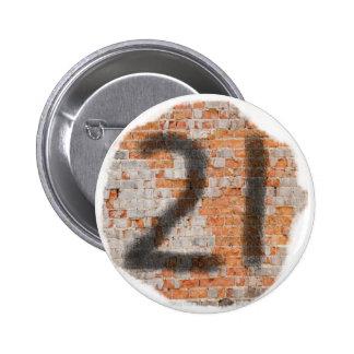Graffiti 21st Birthday Gifts 6 Cm Round Badge