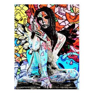 Graffiti angel postcard