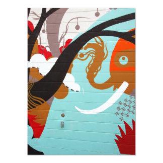 Graffiti Art 14 Cm X 19 Cm Invitation Card