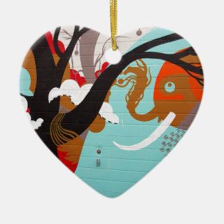 Graffiti Art Ceramic Heart Decoration