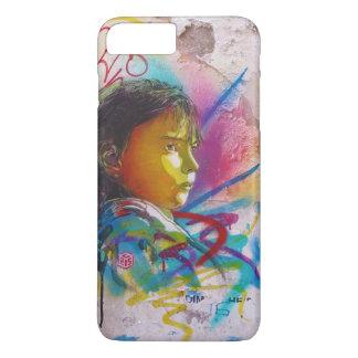 Graffiti Art of a Little Brunette Girl's Face iPhone 7 Plus Case
