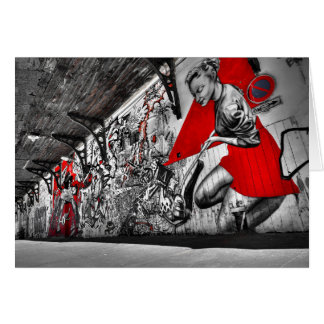Graffiti Artist Art Greeting Card