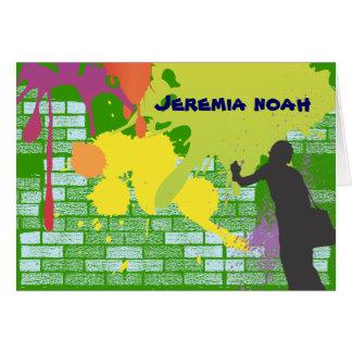 Graffiti Artist Bar Bat Mitzvah Thank You Card