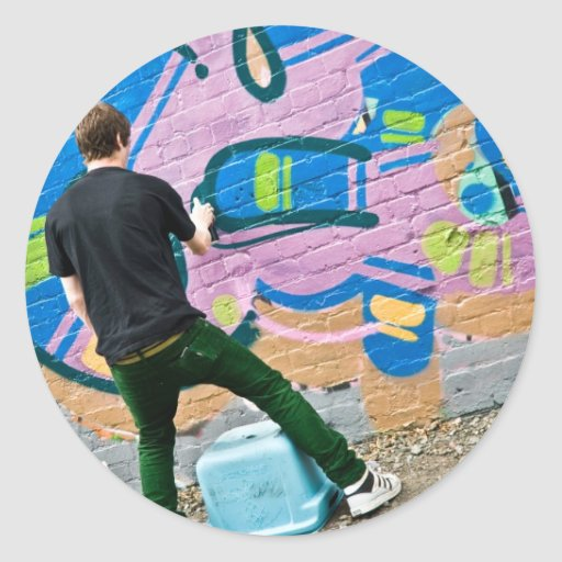 Graffiti Atrist at work Stickers