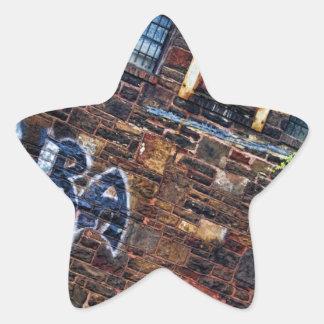 Graffiti Aura Grunge Derelict Stone Building Star Sticker