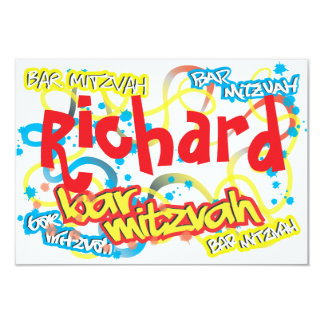 Graffiti Bar Mitzvah RSVP Card