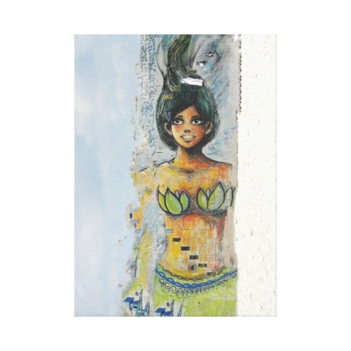 Graffiti Beach Bunny Wrapped Canvass Gallery Wrap Canvas