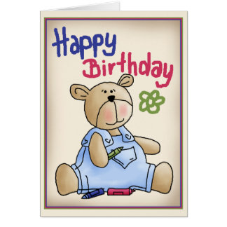 Graffiti Birthday Bear Card