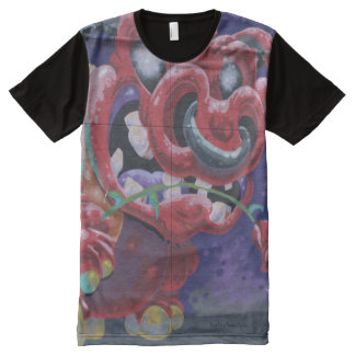 Graffiti Bull All-Over Print T-Shirt