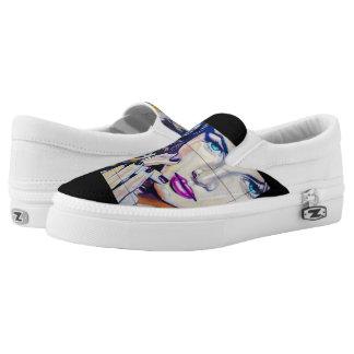 Graffiti diva, slip-on shoes, by zipz !