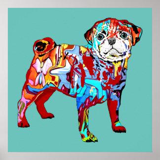 Graffiti dog poster